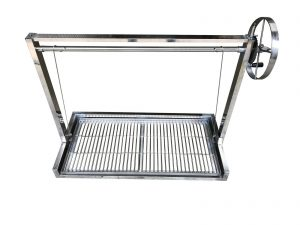 Stainless Steel Brick BBQ DIY Cooking Grill with Argentinian Adjustable Heights