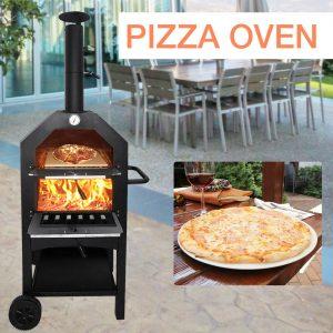 UK Pizza Oven Set Bread Peel Cutter Outdoor Garden Patio Barbecue Cooking BBQ